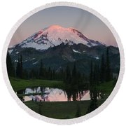 View To Be Shared Round Beach Towel