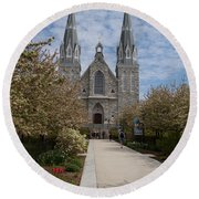 Villanova University Main Chapel  Round Beach Towel