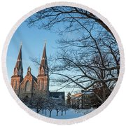 Villanova Winter Saint Thomas Round Beach Towel