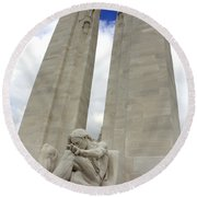 Vimy Ridge Memorial France Round Beach Towel