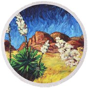 Vincent In Arizona Round Beach Towel