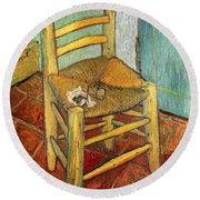Vincent's Chair 1888 Round Beach Towel