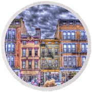 Round Beach Towel featuring the photograph Vine Street by Daniel Sheldon