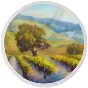Vineyard Gold Round Beach Towel