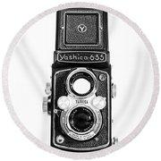 Vintage 1950s Yashica 635 Camera Round Beach Towel