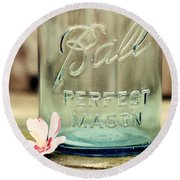 Vintage Ball Perfect Mason Round Beach Towel