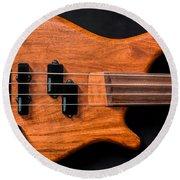 Vintage Bass Guitar Body Round Beach Towel