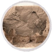 Vintage Canyon De Chelly Round Beach Towel by Jerry Fornarotto