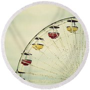 Vintage Ferris Wheel Round Beach Towel