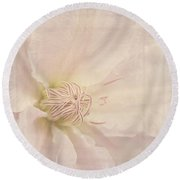 Vintage Flower Art - A Beautiful Place Round Beach Towel