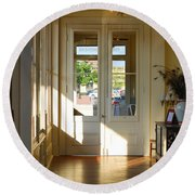 Vintage Foyer Filled With Light - The Ant Street Inn Round Beach Towel by Connie Fox