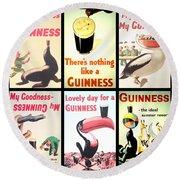 Vintage Guinness  Round Beach Towel