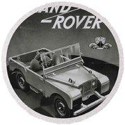 Vintage Land Rover Advert Round Beach Towel
