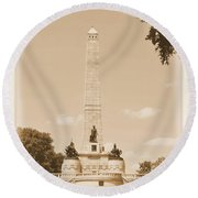 Vintage Lincoln's Tomb Round Beach Towel
