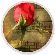 Round Beach Towel featuring the photograph Vintage Love Story Symphony by Judy Palkimas