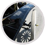 Round Beach Towel featuring the photograph Vintage Model T by Ann Horn
