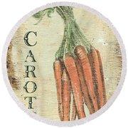 Vintage Vegetables 4 Round Beach Towel by Debbie DeWitt