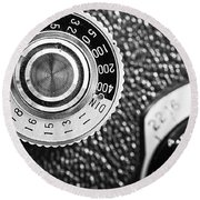 Vintage Yashica 635 Camera - Asa Dial Round Beach Towel