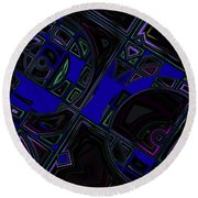 Vinyl Blues Round Beach Towel