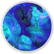Violet Blue - Abstract Art By Sharon Cummings Round Beach Towel