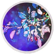 Round Beach Towel featuring the photograph Violet Illumination by Shawna Rowe