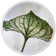 Violet Leaf Round Beach Towel
