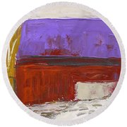 Violet Roof Round Beach Towel by John Williams