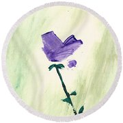 Violet Solo Round Beach Towel by Frank Bright
