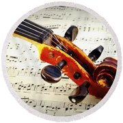 Violine Round Beach Towel