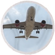Virgin America Airbus 319 Round Beach Towel