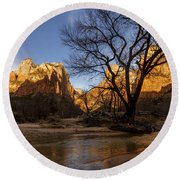 Virgin Reflection Round Beach Towel