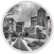 Round Beach Towel featuring the photograph Virginia Ave. by Howard Salmon