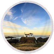 Round Beach Towel featuring the photograph Virxe Do Porto Meiras Galicia Spain by Pablo Avanzini