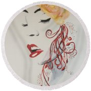 Vision In Silhouette Round Beach Towel