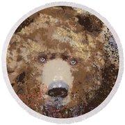 Visionary Bear Round Beach Towel by Kim Prowse