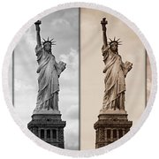 Visions Of Liberty Round Beach Towel
