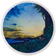 Visions Of Paradise II Round Beach Towel