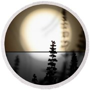 Round Beach Towel featuring the photograph Vitex Moon by Charlotte Schafer