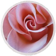 Vivacious Pink Rose 4 Round Beach Towel