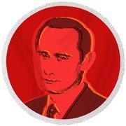 Vladimir Putin Round Beach Towel by Jean luc Comperat