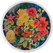 Vogue Round Beach Towel by Beatrice Cloake