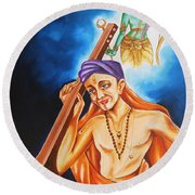 The Song Of Devotion Round Beach Towel