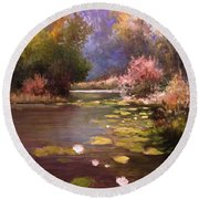 Voronezh River Round Beach Towel