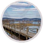 Vransko Lake Nature Park Bird Observatory Round Beach Towel