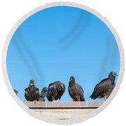 Vultures On Anhinga Trail, Everglades Round Beach Towel
