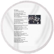 W B Keats - The Wild Swans At Atcoole Round Beach Towel