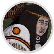 Wabanaki Warrior Round Beach Towel