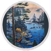 Wabigoon Lake Memories Round Beach Towel