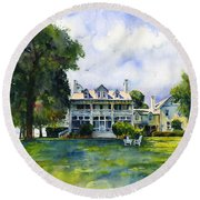 Wades Point Inn Round Beach Towel