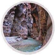 Wadi Mujib Round Beach Towel